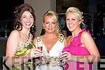 ..SMILES: Smiles all around by Carol Kennelly,Leanne O'Brien and may Stapleton at the pre Rose Ball reception on FRiday night in Fels Point Hotel, Tralee.. ....