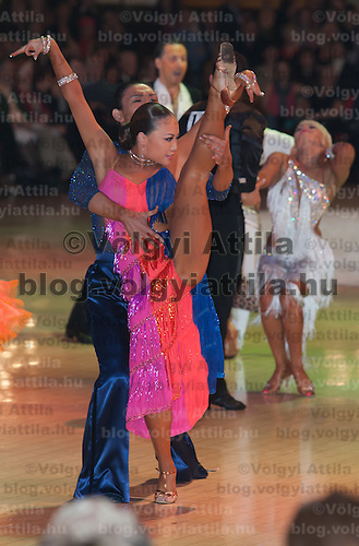 Motomitsu Shimizu and Miyuki Maruichi of Japan perform their dance during the Professional Latin-american competition of the Blackpool Dance Festival thati is the most famous event among dance competitions held in Blackpool, United Kingdom on June 01, 2011. ATTILA VOLGYI