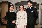 "Inma Alcantara , Giulia Charm and Angel de Molina during the presentation of the new characters for the new season of the tv series ""El Secreto de Puente Viejo""  in Madrid, February 10, Madrid."