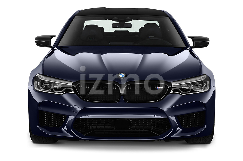 Car photography straight front view of a 2019 BMW M5 Competition Base 4 Door Sedan