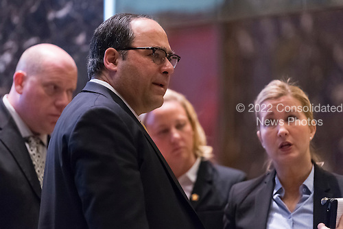 Director of Advance Operations George Gigicos is seen in the lobby of Trump Tower in New York, NY, USA on January, 9, 2017. <br /> Credit: Albin Lohr-Jones / Pool via CNP