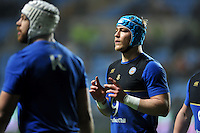David Denton of Bath Rugby looks on during the pre-match warm-up. European Rugby Champions Cup match, between Wasps and Bath Rugby on December 13, 2015 at the Ricoh Arena in Coventry, England. Photo by: Patrick Khachfe / Onside Images