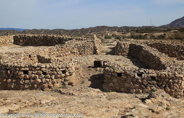 Los Millares prehistoric Chalcolithic settlement archaelogical site, Almeria, Spain