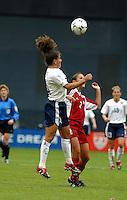 Joy Fawcett , USWNT vs Canada April 26, 2003.