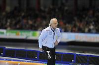 SCHAATSEN: HEERENVEEN: 28-12-2013, IJsstadion Thialf, KNSB Kwalificatie Toernooi (KKT), Henk Gemser (trainer/coach), ©foto Martin de Jong