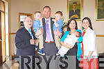 BABY JOY: Proud parents Micheal and Dara Quirke, Tralee of little Addison who was Christened by Fr Lane atSt John's Church, Tralee and celebrated afterwards with family and friends at the Kerins O'Rahills clubhouse, Tralee on Sunday l-r: Mike, Ethan, Micheal, Cameron, Dara, Addison Quirke and Patricia Flanagan.