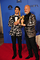 LOS ANGELES, CA. January 06, 2019: Darren Criss & Ryan Murphy at the 2019 Golden Globe Awards at the Beverly Hilton Hotel.<br /> Picture: Paul Smith/Featureflash
