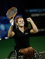 19-11-06,Amsterdam, Tennis, Wheelchair Masters, Esther Vergeer wins the Masters 2006