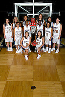SAN ANTONIO, TX - OCTOBER 15, 2007: The St. Mary's University Rattlers Women's Basketball team picture and individual portraits. (Photo by Jeff Huehn)
