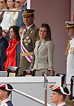 Prince Felipe of Spain (l) and Princess Letizia during a military parade marking the Armed Forces Day on June 2, 2012 in Valladolid.(ALTERPHOTOS/Acero)