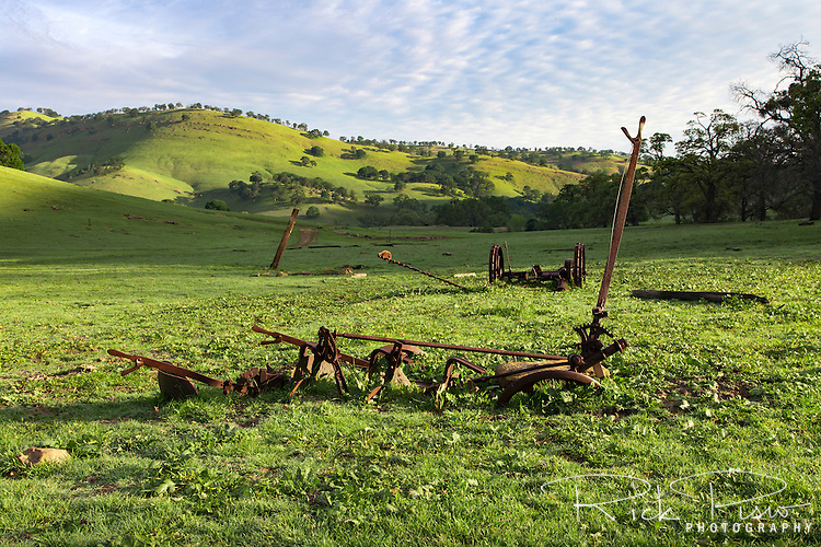 Abandoned farm equipment at Round Valley Regional Park near Byron, California