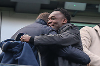 Former Chelsea player Michael Essien during the Premier League match between Chelsea and Newcastle United at Stamford Bridge, London, England on 2 December 2017. Photo by David Horn.
