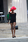 "Model wearing Harlem's Heaven Hats by Evette Petty at ""A Great Day In Harlem"" Urban Fashion Fusion Showcase, NY 7/25/10"