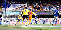 Blackburn Rovers' Bradley Dack scores his side's second goal <br /> <br /> Photographer Rachel Holborn/CameraSport<br /> <br /> The EFL Sky Bet Championship - Ipswich Town v Blackburn Rovers - Saturday 4th August 2018 - Portman Road - Ipswich<br /> <br /> World Copyright &copy; 2018 CameraSport. All rights reserved. 43 Linden Ave. Countesthorpe. Leicester. England. LE8 5PG - Tel: +44 (0) 116 277 4147 - admin@camerasport.com - www.camerasport.com