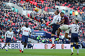 2nd February 2019, Wembley Stadium, London England; EPL Premier League football, Tottenham Hotspur versus Newcastle United; Jose Salomon Rondon of Newcastle United header hits the post