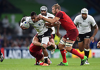 Nikola Matawalu of Fiji takes on the England defence. Rugby World Cup Pool A match between England and Fiji on September 18, 2015 at Twickenham Stadium in London, England. Photo by: Patrick Khachfe / Onside Images