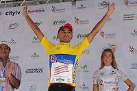 MEDELLÍN -COLOMBIA-21-06-2013. Mauricio Ortega del equipo Aguardiente Antioqueño asumió este  viernes el liderato general de la Vuelta ciclistica a Colombia 2013. Jonathan Millán, del equipo GW Shimano ganó la décima segunda etapa de la Vuelta a Colombia Supérate 2103 que se cumplió entre las ciudades de Doradal y Medellín con un recorido 174 kilómetros./ Mauricio Ortega of Aguardiente Antioqueño team took overall lead on the Colombia Cycling Tour 2013 this friday. Jonathan Millan of GW Shimano team won the 12th stage of Vuelta a Colombia Superate 2013 made between the cities of Doradal and Medellin with a distance of 174 Km.  Photo:VizzorImage/Luis Ríos/STR