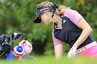 Paula Creamer (USA) on the 13th tee during Thursday's Round 1 of The Evian Championship 2018, held at the Evian Resort Golf Club, Evian-les-Bains, France. 13th September 2018.<br /> Picture: Eoin Clarke | Golffile<br /> <br /> <br /> All photos usage must carry mandatory copyright credit (&copy; Golffile | Eoin Clarke)