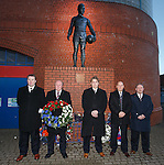 Memorial to the victims of the Ibrox disaster of 1971 at the John Greig Statue, Ibrox Stadium:<br /> Sandy Easdale, Colin Stein, James Easdale, Kenny McDowall and Jim Hannah