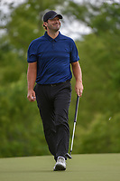 Tony Romo (a) (USA) smiles after sinking his putt on 4 during round 1 of the AT&T Byron Nelson, Trinity Forest Golf Club, Dallas, Texas, USA. 5/9/2019.<br /> Picture: Golffile | Ken Murray<br /> <br /> <br /> All photo usage must carry mandatory copyright credit (© Golffile | Ken Murray)