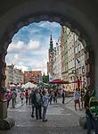 Gdańsk. Widok na Długi Targ