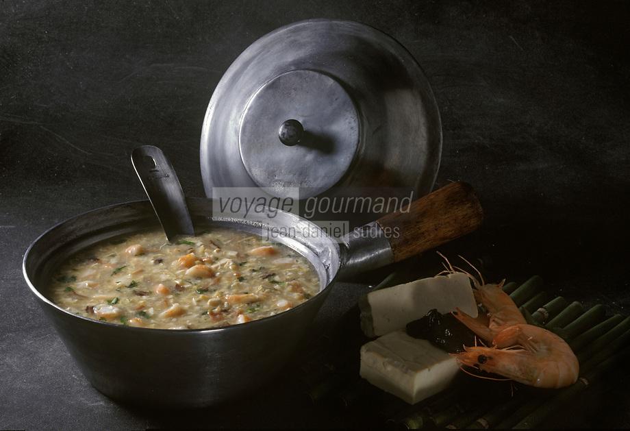 Asie/Chine/Jiangsu/Nankin: Soupe de crustacés au tofu
