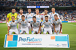 Players of Real Madrid line up and pose for a photo during the Santiago Bernabeu Trophy 2017 match between Real Madrid and ACF Fiorentina at the Santiago Bernabeu Stadium on 23 August 2017 in Madrid, Spain. Photo by Diego Gonzalez / Power Sport Images