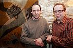 """20070309 - France - Paris<br /> CHRISTOPHE TUPINIER ET THIERRY GAUDILLERE, CREATEURS DU MAGAZINE """"BOURGOGNES"""" SUR LES VINS DE BOURGOGNE.<br /> Ref: CHRISTOPHE_TUPINIER_011 - © Philippe Noisette"""