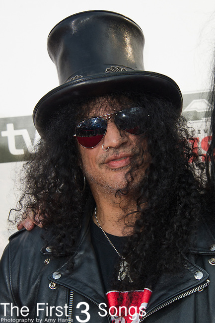 Slash attends the 2014 AP Music Awards at the Rock And Roll Hall Of Fame and Museum at North Coast Harbor in Cleveland, Ohio.