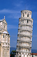 The LEANING TOWER OF PISA was begun in 1174 AD, stands 847 feet, and continues to settle as it did from its inception, ITALY