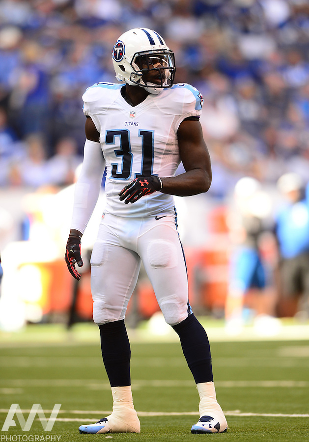 Sep 28, 2014; Indianapolis, IN, USA; Tennessee Titans strong safety Bernard Pollard (31) against the Indianapolis Colts at Lucas Oil Stadium. Mandatory Credit: Andrew Weber-USA TODAY Sports