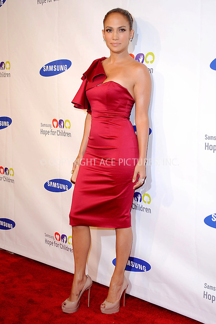 WWW.ACEPIXS.COM . . . . . .June 7, 2011...New York City.....Jennifer Lopez attends the Samsung Hope for Children Gala at Cipriani Wall Street on June 7, 2011 in New York City.......Please byline: KRISTIN CALLAHAN - ACEPIXS.COM.. . . . . . ..Ace Pictures, Inc: ..tel: (212) 243 8787 or (646) 769 0430..e-mail: info@acepixs.com..web: http://www.acepixs.com .