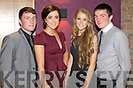 Pictured at the Austin Stacks social, which took place in the Carlton hotel, Tralee on Saturday night were l-r: Conor Jordan, Lauren Walsh, Fiona Byrnes and Joseph O'Kelly.