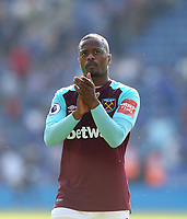West Ham United's Patrice Evra<br /> <br /> Photographer Rob Newell/CameraSport<br /> <br /> The Premier League - Leicester City v West Ham United - Saturday 5th May 2018 - King Power Stadium - Leicester<br /> <br /> World Copyright &copy; 2018 CameraSport. All rights reserved. 43 Linden Ave. Countesthorpe. Leicester. England. LE8 5PG - Tel: +44 (0) 116 277 4147 - admin@camerasport.com - www.camerasport.com