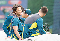 Nathan Coulter-Nile (Australia) and team mates look relaxed at the nets during a Training Session at Edgbaston Stadium on 10th July 2019