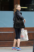 www.acepixs.com<br /> <br /> August 5 2017, New York City<br /> <br /> Actress Elizabeth Olsen leaves a downtown hotel on August 5 2017 in New York City<br /> <br /> By Line: Curtis Means/ACE Pictures<br /> <br /> <br /> ACE Pictures Inc<br /> Tel: 6467670430<br /> Email: info@acepixs.com<br /> www.acepixs.com