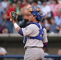 Iowa Cubs catcher Geovany Soto during the Triple-A All-Star Game at Fifth Third Field on July 12, 2006 in Toledo, Ohio.  (Mike Janes/Four Seam Images)