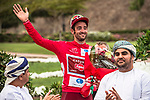 A delighted Nathan Haas (AUS) Team Katusha-Alpecin wins Stage 2 and takes over the race leaders Red Jersey of the 2018 Tour of Oman running 167.5km from Sultan Qaboos University to Al Bustan. 14th February 2018.<br /> Picture: ASO/Muscat Municipality/Kare Dehlie Thorstad | Cyclefile<br /> <br /> <br /> All photos usage must carry mandatory copyright credit (&copy; Cyclefile | ASO/Muscat Municipality/Kare Dehlie Thorstad)