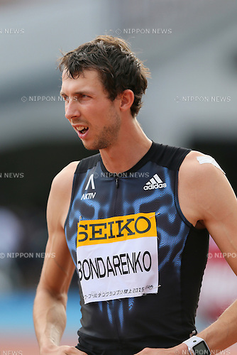 Bohdan Bondarenko (UKR), MAY 10, 2015 - Athletics : IAAF World Challenge Seiko Golden Grand Prix in Kawasaki, Men's High Jump at Todoroki Stadium, Kanagawa, Japan. (Photo by YUTAKA/AFLO SPORT)