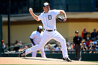 Detroit Tigers pitcher Max Scherzer #37 during a Spring Training game against the Tampa Bay Rays at Joker Marchant Stadium on March 29, 2013 in Lakeland, Florida.  (Mike Janes/Four Seam Images)