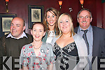 1366-1365.Awards: Attending the awards night of the St Brendans basketball club Tralee last Saturday evening in tyhe Meadowlands Hotel oakpark Tralee were L-R Kerry O Shea,Sharon Roche,Aine Kelliher,Elaine Baily and Laura Griffin.
