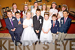 Pictured are pupils from O'Brennan National School and Flemby National School, who made their First Holy Communion in the Immaculate Conception Church, Ballymac, on Saturday last, Phoenix Costelloe (Flemby National School) with pupils from O'Brennan National School, Geraldynn Cassidy, Eimear Curran, Grainne Galvin, Yvonne Hurley, Alyssa Leen, Dawn McLarnon, Saoirse Galvin Murphy, Jared O'Briain, Luke O'Connell, Kieran Slattery and Jamie Sugrue.