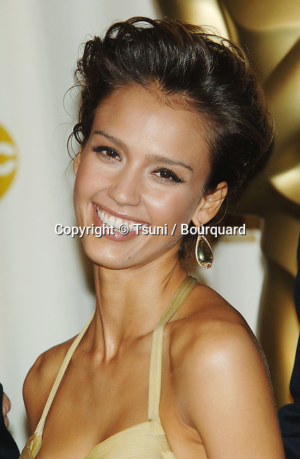 Jessica Alba backstage at the 78th Academy of Motion Pictures (Oscars)  at the Kodak Theatre in Los Angeles. March 5, 2006