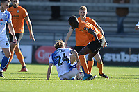 Stuart Sinclair Of Bristol Rovers goes in two footed during Barnet vs Bristol Rovers, Emirates FA Cup Football at the Hive Stadium on 11th November 2018