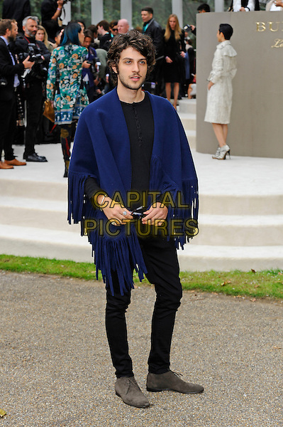 LONDON, ENGLAND - SEPTEMBER 21:  Chay Suede attending the Burberry Prorsum Spring/Summer 2016 show during London Fashion Week at Kensington Gardens, on September 21, 2015 in London, England.<br /> CAP/MAR<br /> &copy; Martin Harris/Capital Pictures