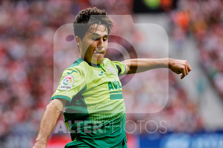 Alvaro Tejero of SD Eibar in action during La Liga match between Atletico de Madrid and SD Eibar at Wanda Metropolitano Stadium in Madrid, Spain.September 01, 2019. (ALTERPHOTOS/A. Perez Meca)