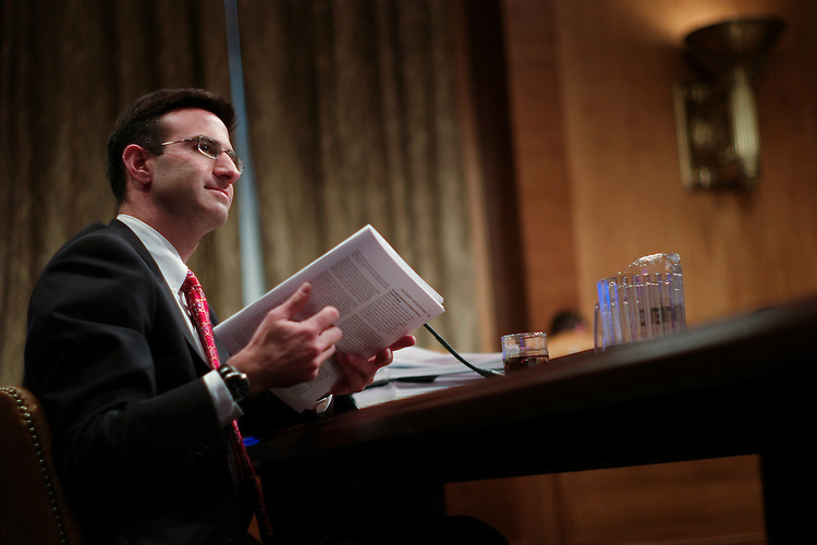 WASHINGTON, DC - Jan. 24: CBO Director Peter R. Orszag during the Senate Budget hearing on the Congressional Budget Office's economic outlook report. (Photo by Scott J. Ferrell/Congressional Quarterly)