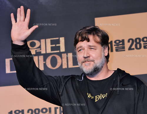 "Russell Crowe, January 19, 2015, Seoul, South Korea : Director and actor Russell Crowe attends the press conference for his new film ""The Water Diviner"" at the Ritz Carlton Seoul, in South Korea on January 19, 2015. (Photo by AFLO)"