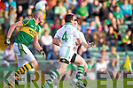 Kieran Donaghy takes the loose ball in the Muster Senior Semi final held in The Gaelic Grounds last Saturday evening.