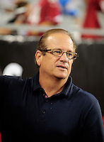 Aug. 22, 2009; Glendale, AZ, USA; San Diego Chargers president Dean Spanos on the sidelines during the game against the Arizona Cardinals during a preseason game at University of Phoenix Stadium. Mandatory Credit: Mark J. Rebilas-